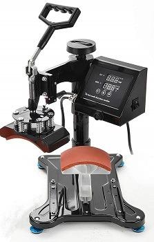 SUNCOO 15x15Heat Press Machine for Shirt Clamshell Digital Sublimation Heat Pressing Transfer Machine for T-Shirt